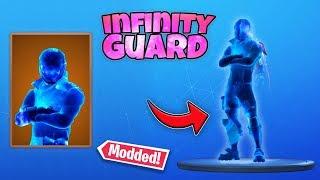 the new fortnite *Infinity Guard* skin in Season X... (Modded Skin)