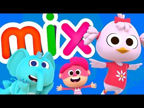 Canções do Zoo 2 Mix | Compilação de Canção Infantis | O Reino Das Crianças