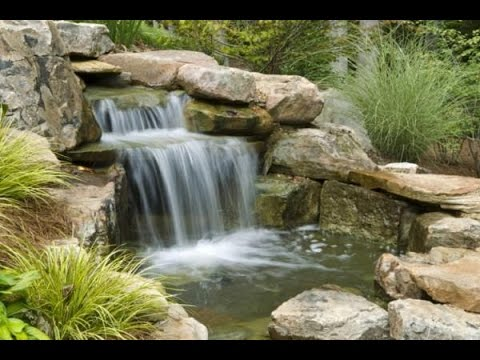 Build Pond With Stream System A Stream In The Garden