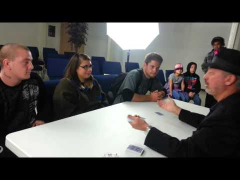drh performs magic card trick scrambled braines