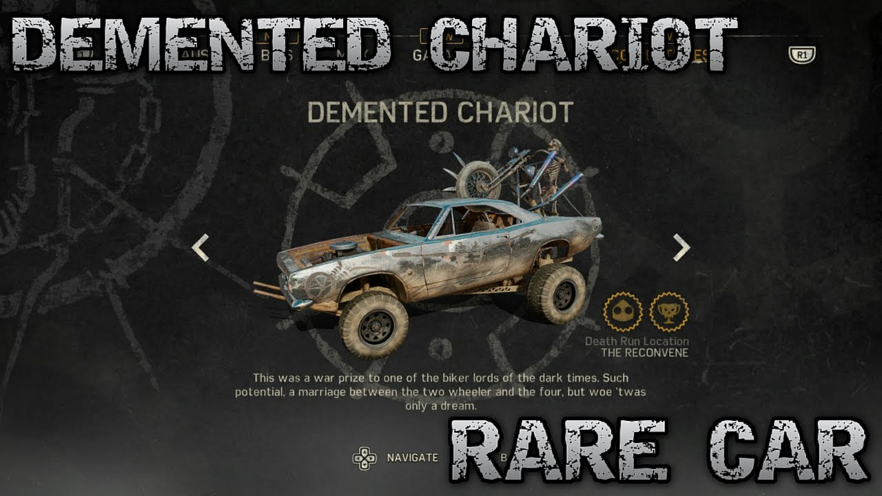Mad Max Rare Car Demented Chariot Location Youtube