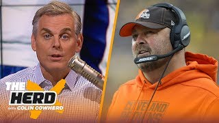 Download Patriots' only problem is WR depth, Colin says Freddie Kitchens' days are numbered | NFL | THE HERD Mp3 and Videos