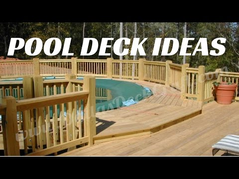 ☑️Above Ground Pool Deck Ideas