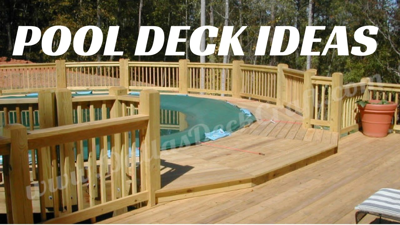 wooden deck ideas for above ground pool | ☑️Above Ground Pool Deck Ideas - YouTube