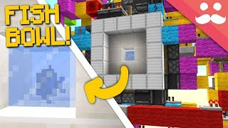 Making a FISH TANK Door in Minecraft 1.13!