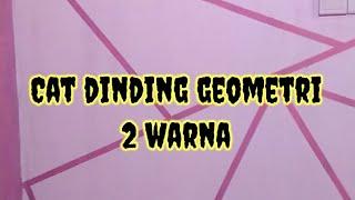 Cat Dinding Geometri 2 Warna 2020