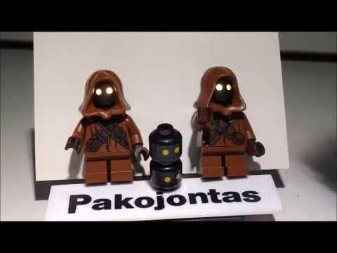 Lego star wars JAWA'S custom light up LED by pakojontas