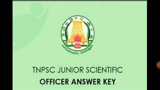 TNPSC Junior Scientific Officer Exam Answer Key Release!!