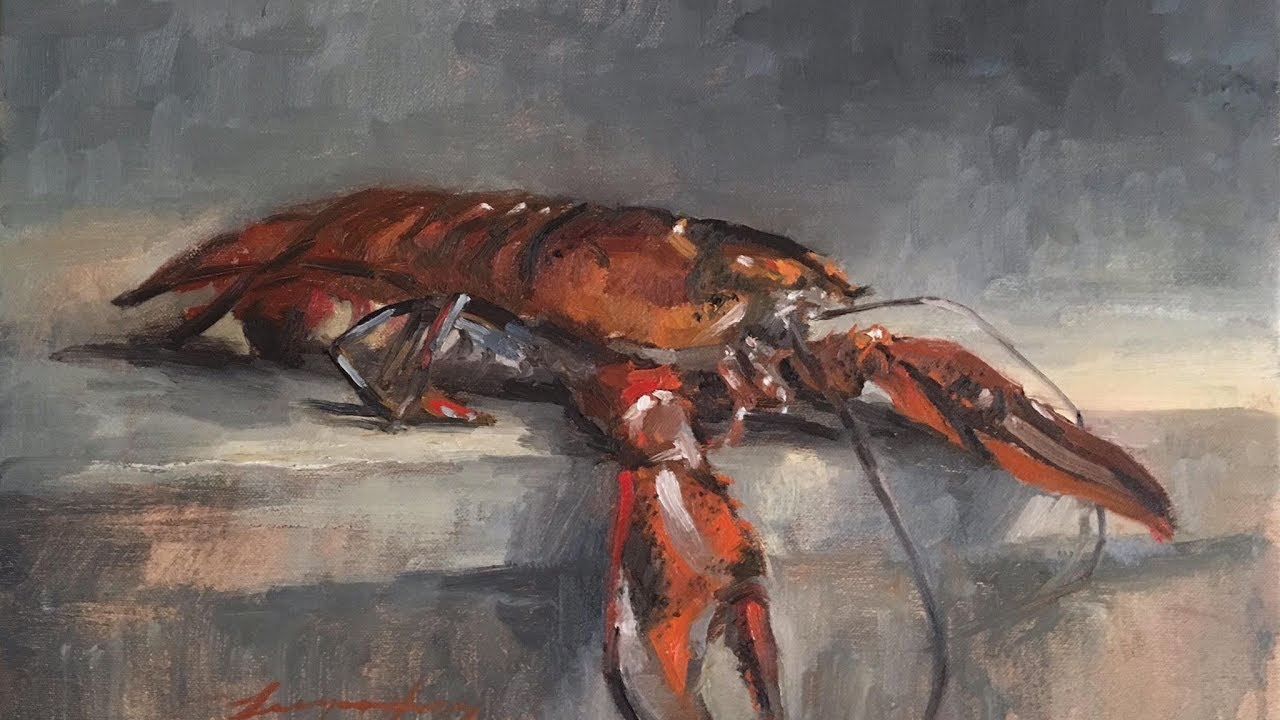 Still Life Painting A Real Lobster With Jessica Henry -1085