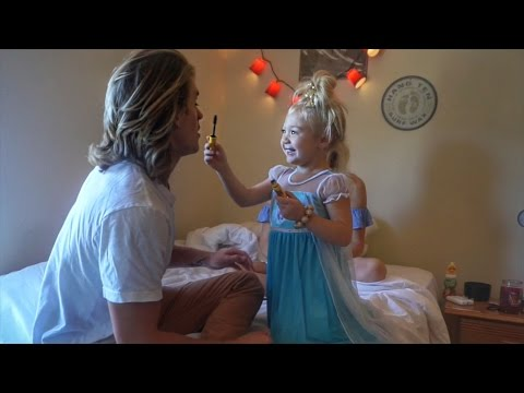 3 YEAR OLD DOES BOYFRIENDS MAKEUP!! | EVERLEIGH SAVANNAH AND COLE
