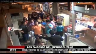 Repeat youtube video Metropolitano: Peleas e infracciones se registra a diario