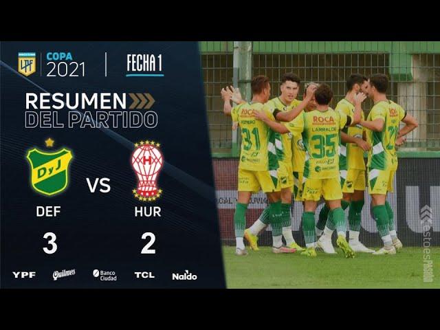 Copa de la Liga   Fecha 1   resumen de Defensa y Justicia - Huracán