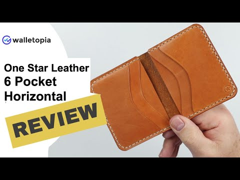 One Star Leather Wallet - 6 Pocket Horizontal Keeps It Fresh!