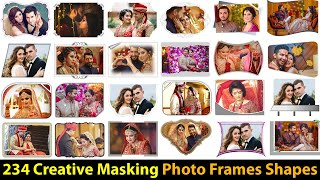 Free Download 234 Creative Masking Photo Frames Shapes PSD Files Collection screenshot 4