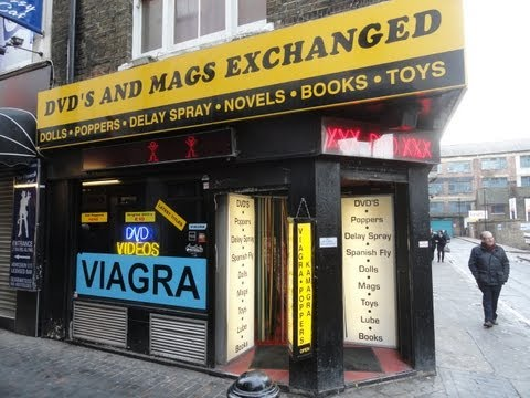 Sex Shops & Services' In The Red Light District Of London In Soho, January 2013
