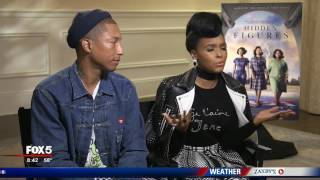 Janelle Monáe and Pharrell Williams talk 'Hidden Figures'
