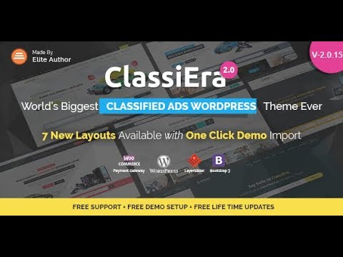 Classified Ads WordPress Theme Review & Free Download - YouTube
