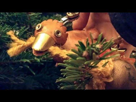 Dabchick climbs a Christmas tree