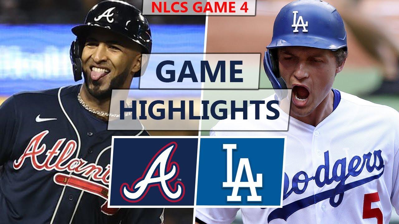 Atlanta Braves vs. Los Angeles Dodgers Highlights | NLCS Game 4 (2021)