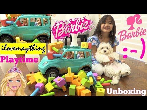 Barbie Toy Dolls Unboxing. Barbie TOY CAR Playtime. Kids' Car CRASH Toy Video. Hulyan and Maya
