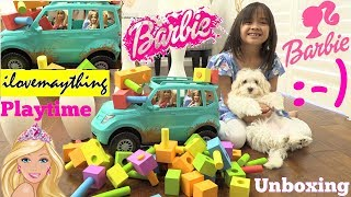 Barbie Toy Dolls Unboxing. Barbie TOY CAR Playtime. Kids' Car CRASH Toy Video. Hulyan and Maya