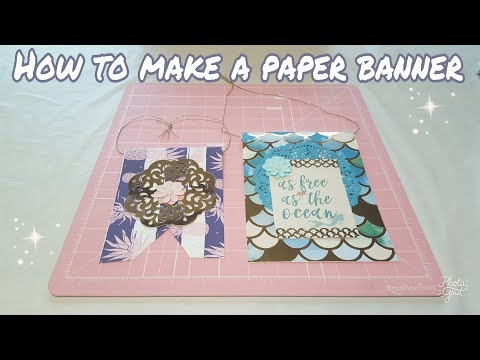 How to make a paper banner | DIY | Planning With Eli