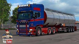 [ETS2 v1.27] Scania R 5- Series (RJL) Red & Blue Skin + Cabin DLC ready