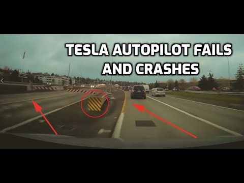 TESLA AUTOPILOT FAILS and Crashes (2019)