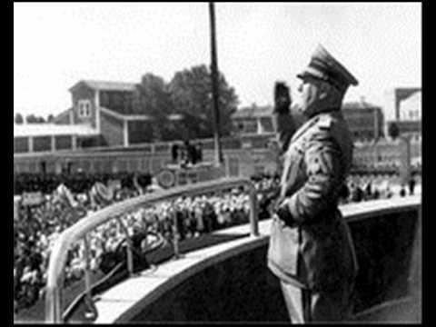Benito Mussolini - Udine: Discorso del 20 Settembre 1938 (con Testo)