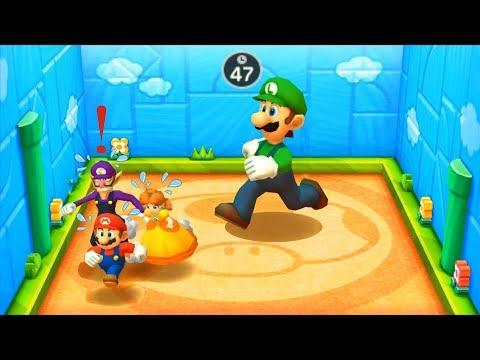 Mario Party The Top 100 - Championship Battle Action & Racing Luigi Vs Mario Vs Daisy Vs Waluigi