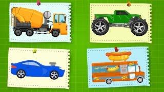Машинки.  Развивающие Мультики про Машинки.  Видео для детей
