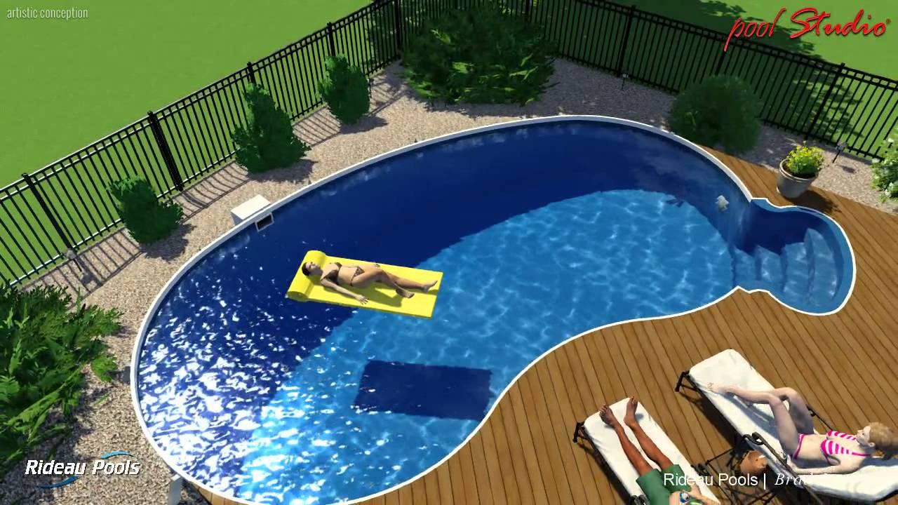 14 x 28 kidney wooden deck design by rideau pools ottawa for Pool design ottawa