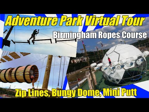 Zip Lines in Birmingham AL at Adventure Park Grants Mill w Ropes Course