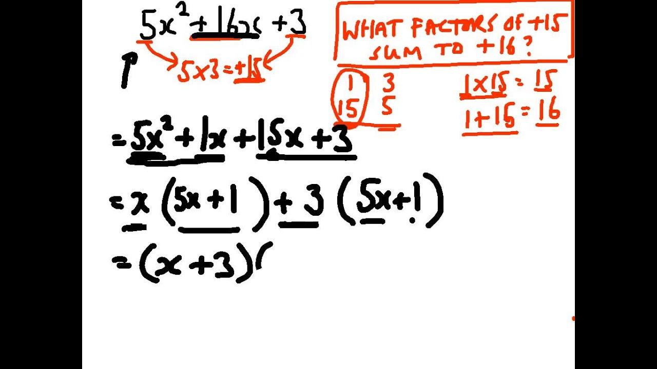 Factorising quadratics with more than 1 x squared - YouTube
