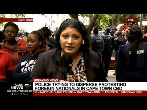 Tensions Are High In The Cape Town City Centre | Vanessa Poonah Reports
