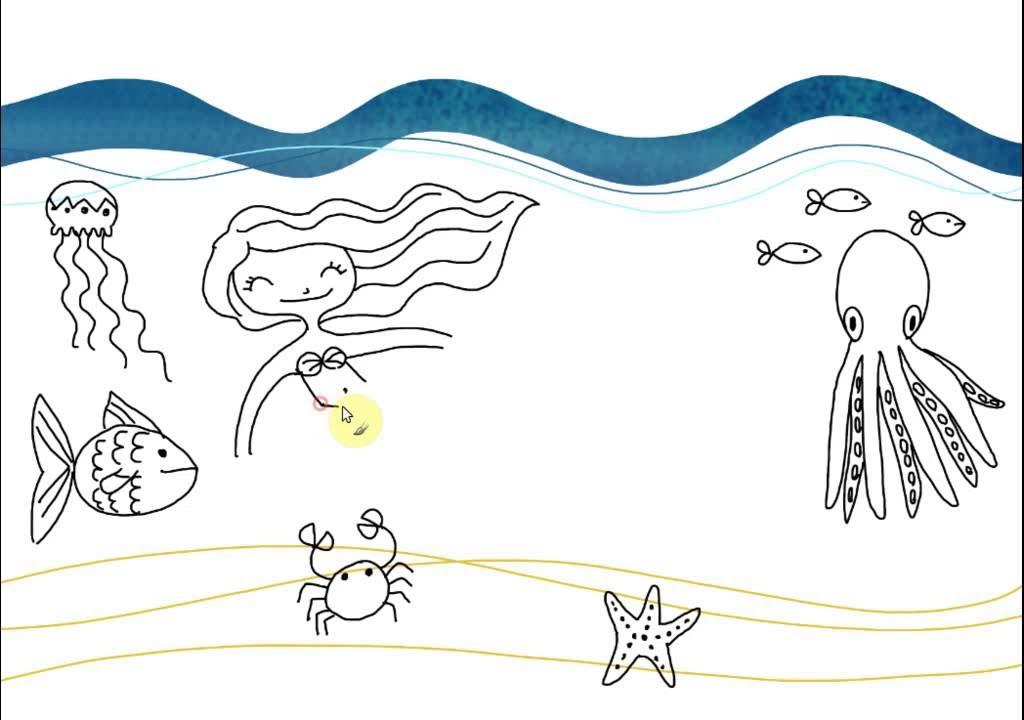 disegno le creature in fondo al mare 1 youtube