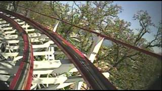 The Legend Wooden Roller Coaster Front Seat POV Arnold