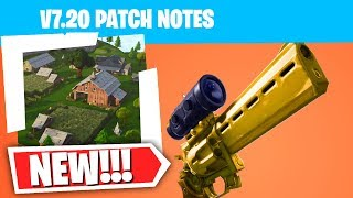 *NEW* Fortnite 7.20 Patch Notes! (Scoped Revolved, Redeploy Item, Sniper Buff & More!)