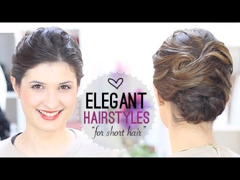 elegant hairstyle short hair