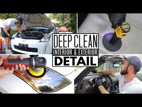 Complete Full Car Interior & Exterior Detailing A Nissan 350Z! Auto Detailing Deep Clean