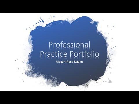 Professional Practice Portfolio MeganRoseDavies