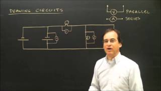 Drawing Electric Circuits With Volt Meters and Ammeters