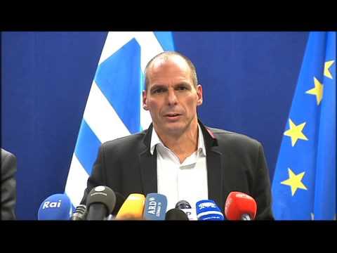 Varoufakis Βαρουφάκης Eurogroup 20th Feb 2015 press conference