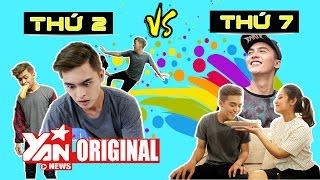 Hài: Sự khác biệt giữa thứ 2 và thứ 7