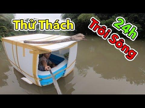Lâm Vlog - Thử Thách 24h Sống Trong Thùng Xốp Trôi Sông   24 Giờ Trôi Trên Sông