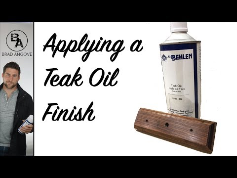 Applying a teak oil finish