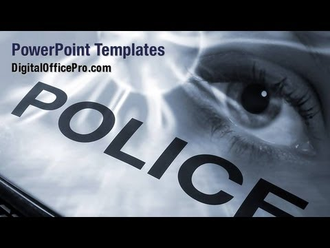 police investigation powerpoint template backgrounds