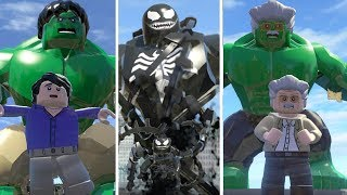 Hulk (Transformation) Vs Venom Vs StanLee(Transformation) - LEGO Marvel Super Heroes