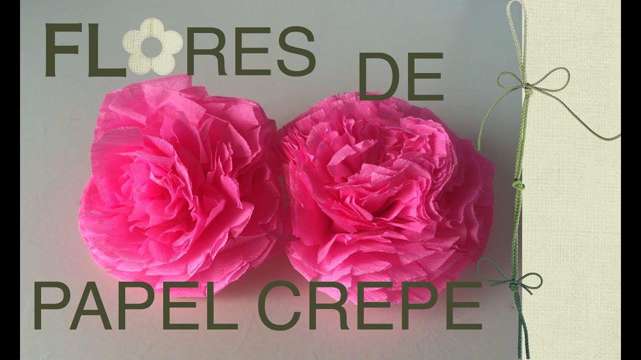 Flores de papel crepe youtube - Videos de como hacer crepes ...