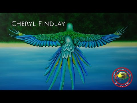 Art tips on How to Create Birds in Acrylic with Cheryl Findlay on Colour In Your Life